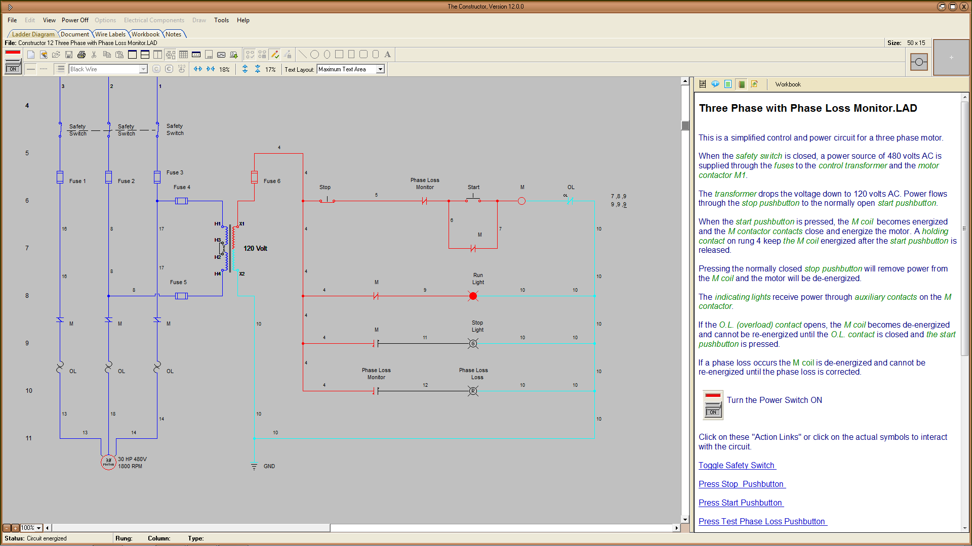Electrical Circuits Simulation Software Single Line Diagram Symbols 9 Control